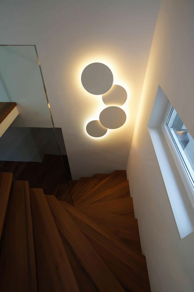 Incredibili lampade da parete dal design moderno - Wandleuchte treppenaufgang ...