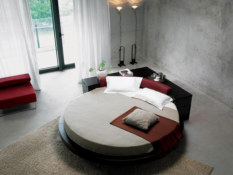 Modello di letto rotondo matrimoniale n.01