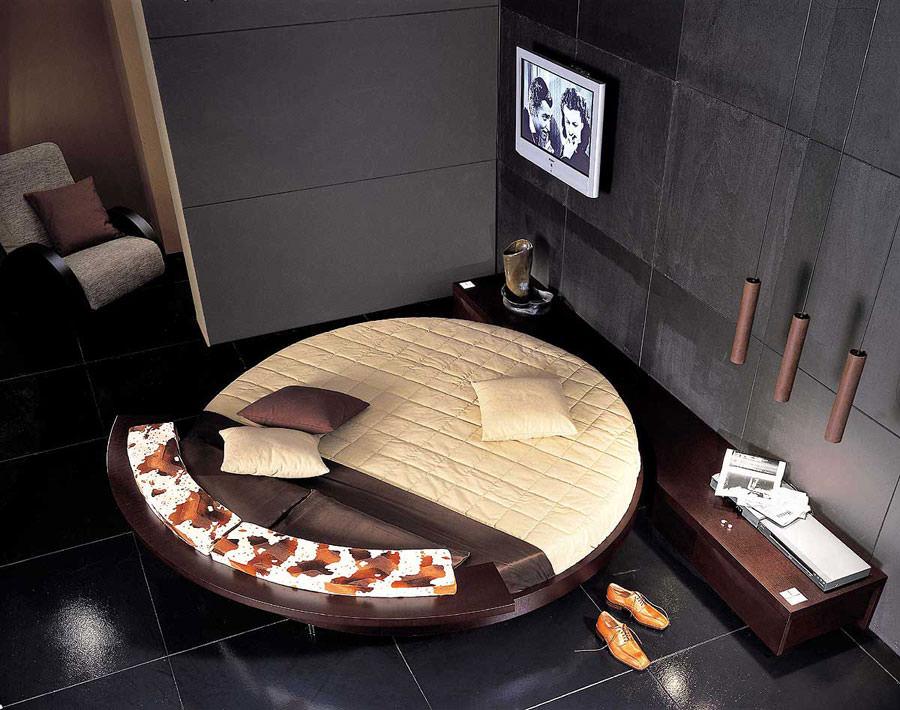 Modello di letto rotondo matrimoniale n.04