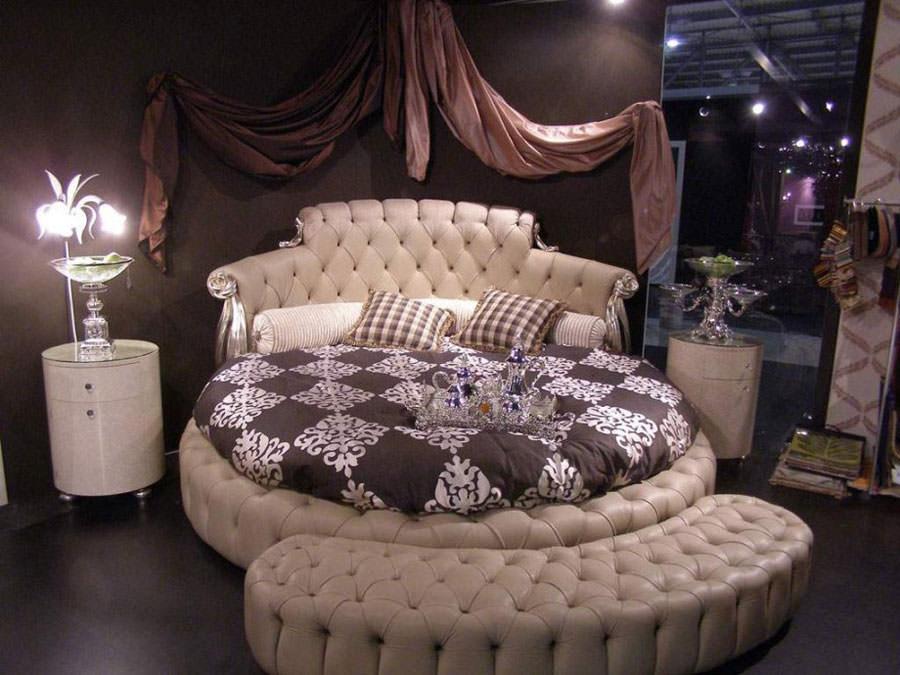 Modello di letto rotondo matrimoniale n.17