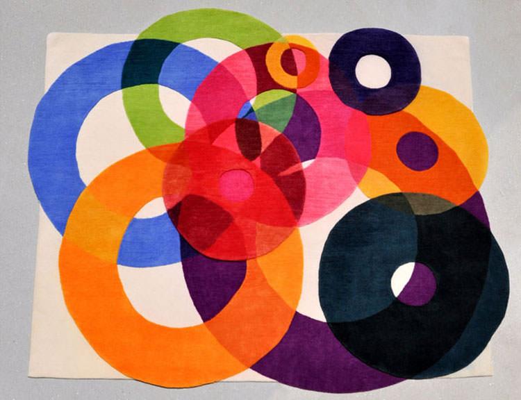 Tappeto dal design geometrico n.03