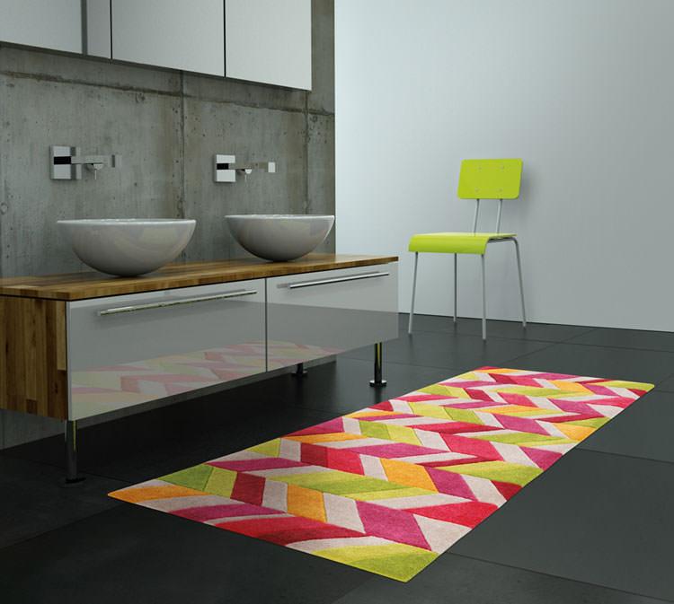 tappeto dal design geometrico n15