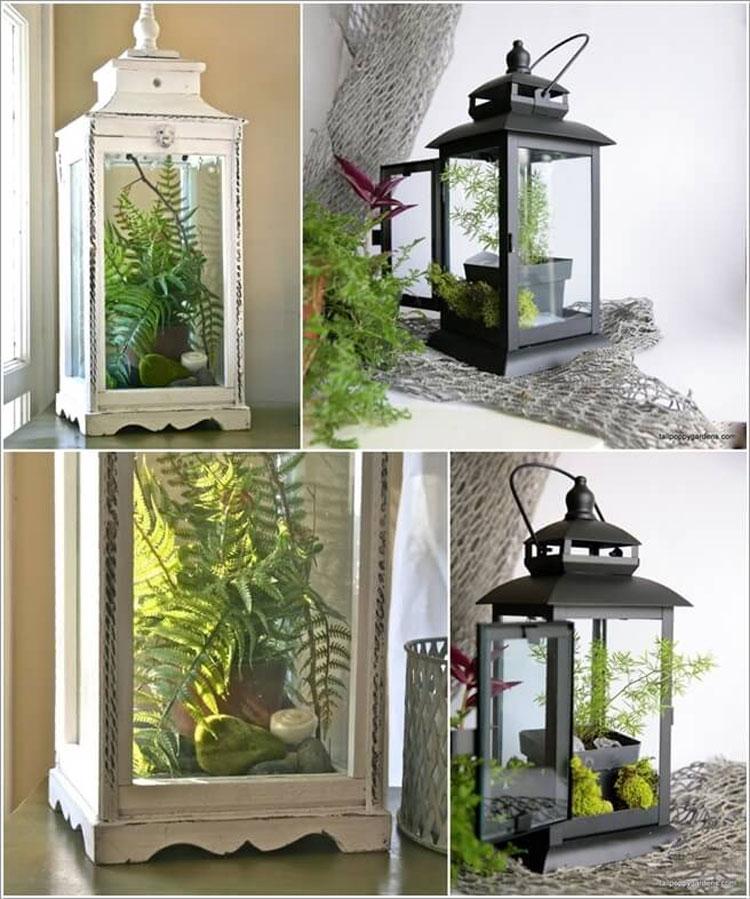15 graziose idee per arredare con le piante - Decorare lanterne ...