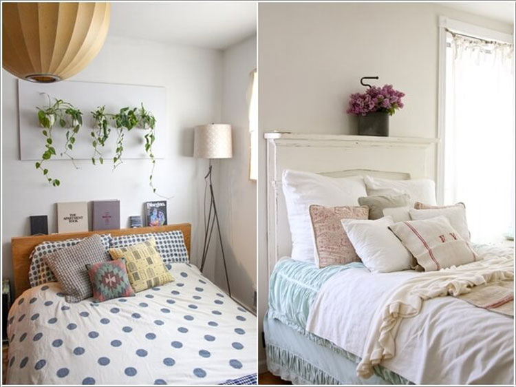 15 graziose idee per arredare con le piante for Mensola sopra letto