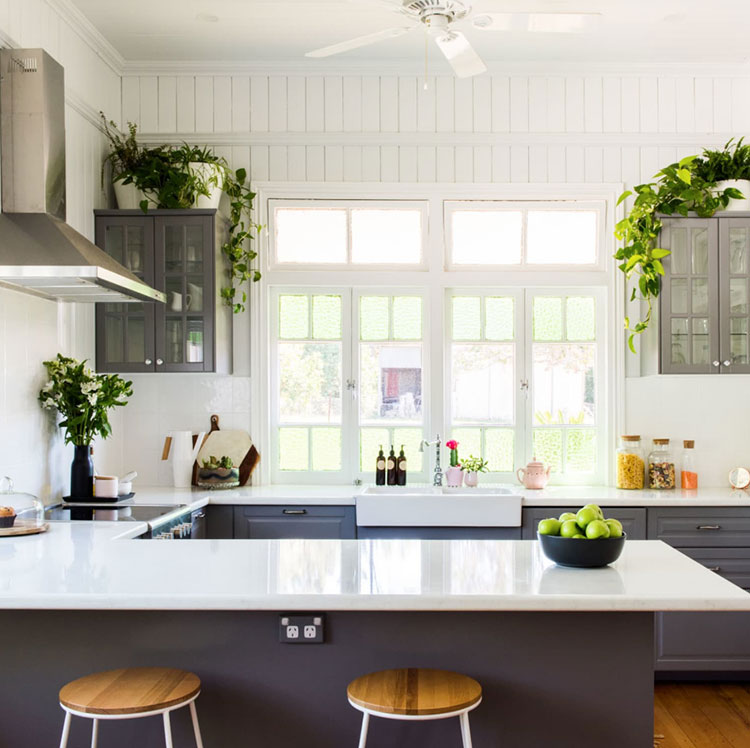 Idee per arredare la cucina con le piante n.01