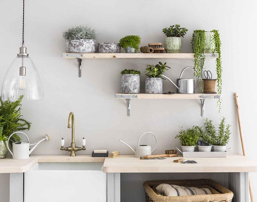 Idee per arredare la cucina con le piante n.02