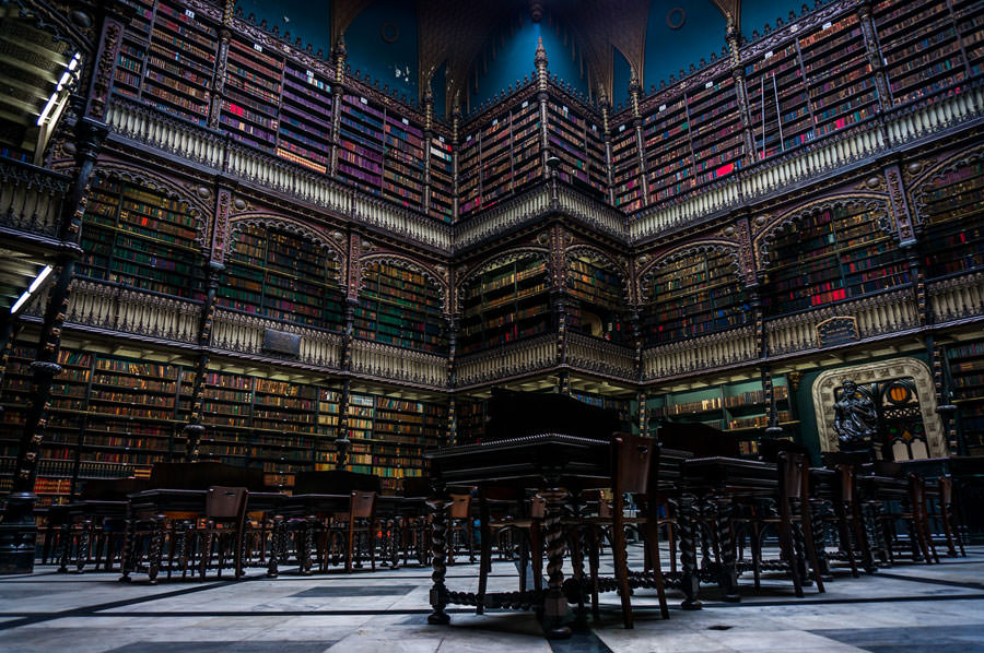 Biblioteca Regio Gabinetto Lettura Portoghese Rio De Janeiro