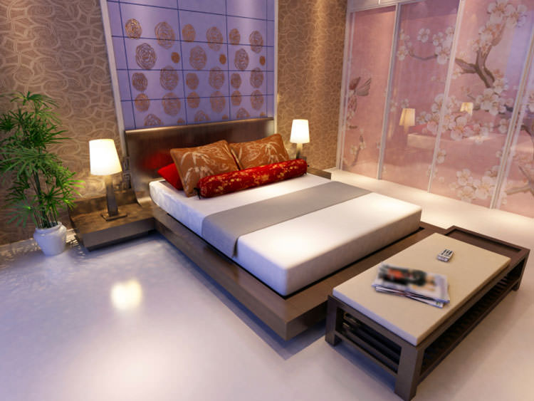 Camera da letto in stile moderno n.06