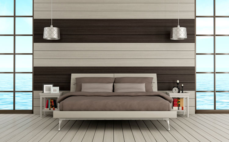 25 idee per arredare la camera da letto in stile moderno for Bed back wall design