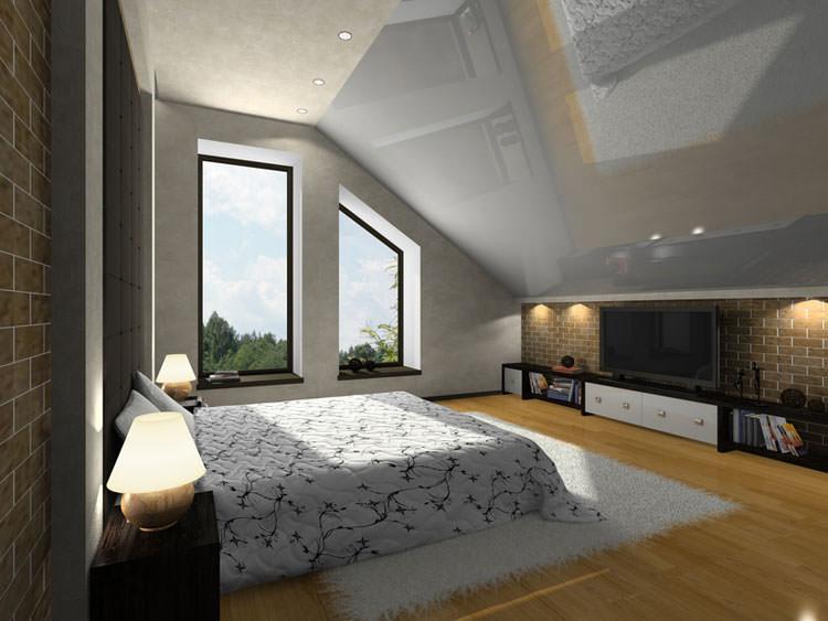 Camera da letto in stile moderno n.17