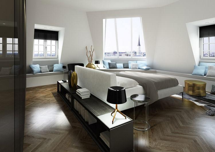 Camera da letto in stile moderno n.19