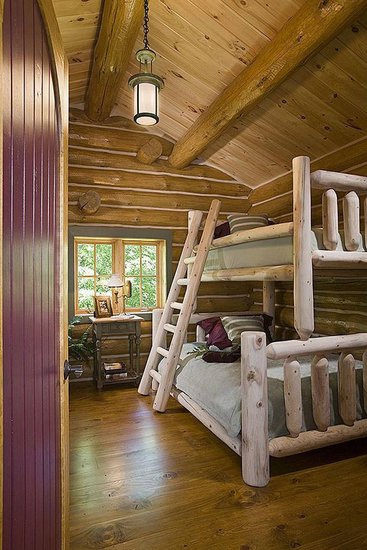 Letti a castello in legno dal design particolare n.14