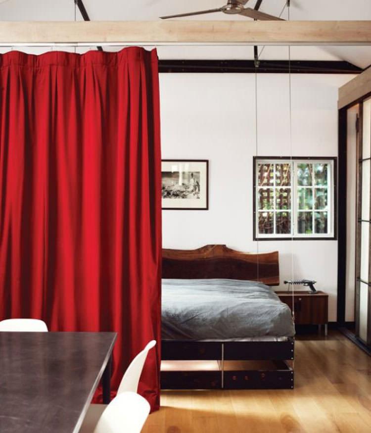 Foto del letto sospeso a scomparsa ideato da Vincent Kartheiser n.04