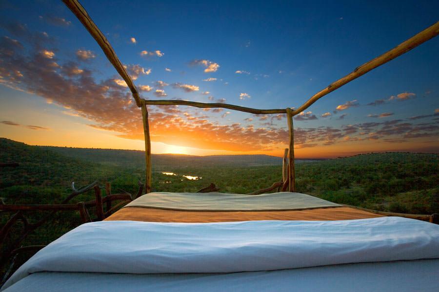Camera dell'hotel Loisaba Wilderness in Kenya