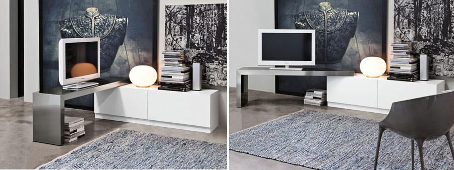 25 mobili porta tv dal design particolare - Mobile porta tv girevole design ...