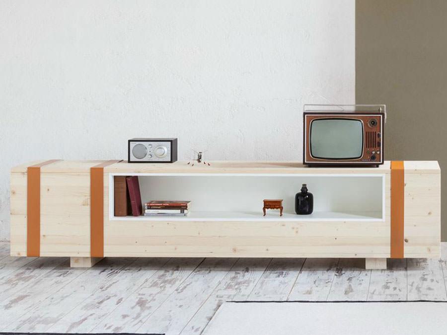 25 mobili porta tv dal design particolare - Parete in legno fai da te ...