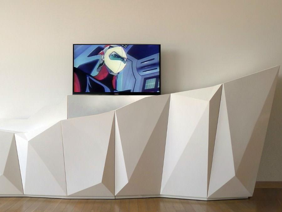 Mobile porta tv dal design particolare n.12