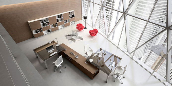 20 idee di design per arredare uno studio in casa for Mobili design ufficio
