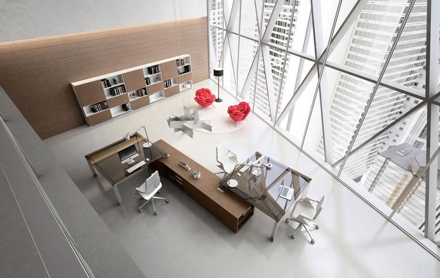 Mobili per ufficio dal design moderno 25 idee di arredo for Arredo interni idee