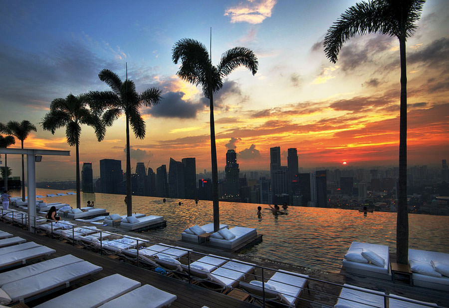 Piscina sul tetto del Marina Bay Sands - Singapore