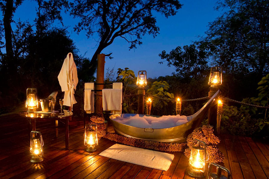 Camera dell'hotel Sanctuary Baines' Camp in Botswana
