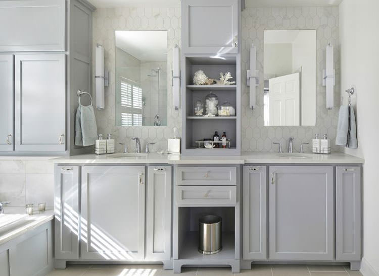 Bagno Legno E Grigio : 20 idee di arredamento bagno in grigio mondodesign.it