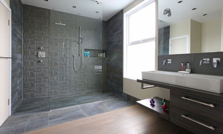 Idee per arredare un bagno grigio n.09