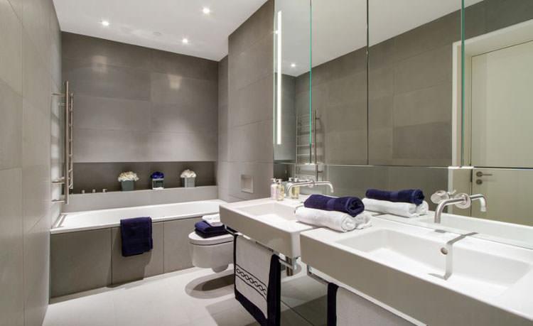 Idee per arredare un bagno grigio n.10