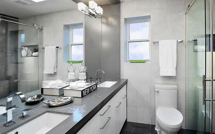 Idee per arredare un bagno grigio n.12