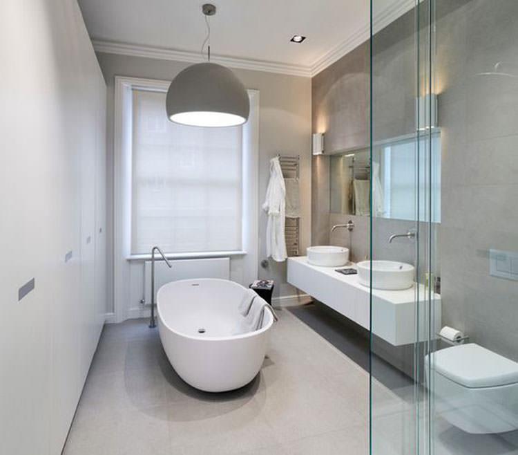 Idee per arredare un bagno grigio n.13
