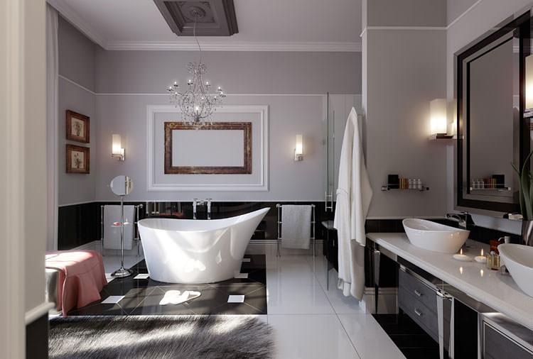 Idee per arredare un bagno grigio n.18