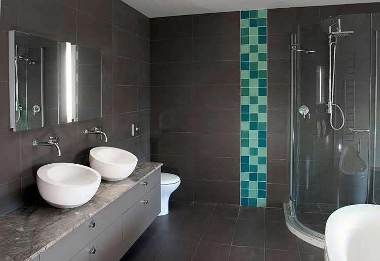 Innovative Dark Grey Floor Tiles Bathroom  Tiles  Home Decorating Ideas