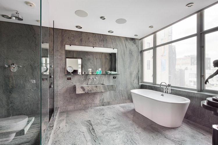 Idee per arredare un bagno grigio n.20