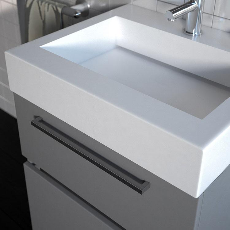 Modello di mobile bagno grigio modello New Age di Goman n.02