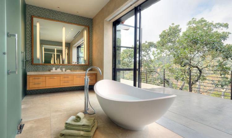 Bagno di lusso con vista panoramica n.15