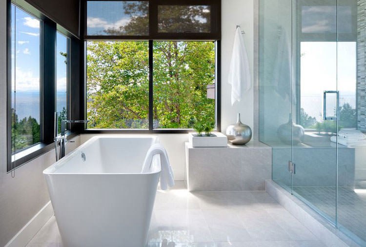 Bagno di lusso con vista panoramica n.27
