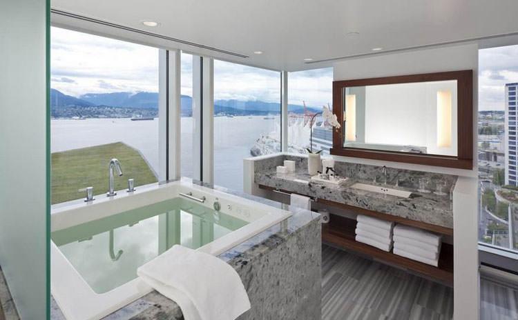Bagno di lusso con vista panoramica n.39