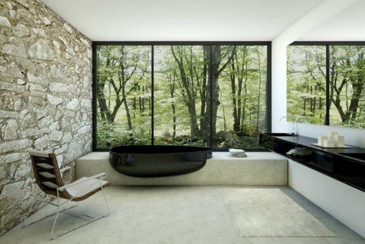 Bagno di lusso con vista panoramica n.40