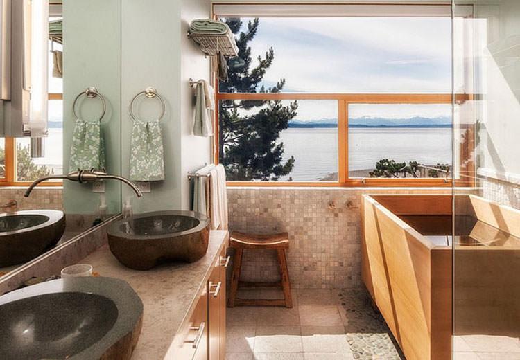 Bagno di lusso con vista panoramica n.42