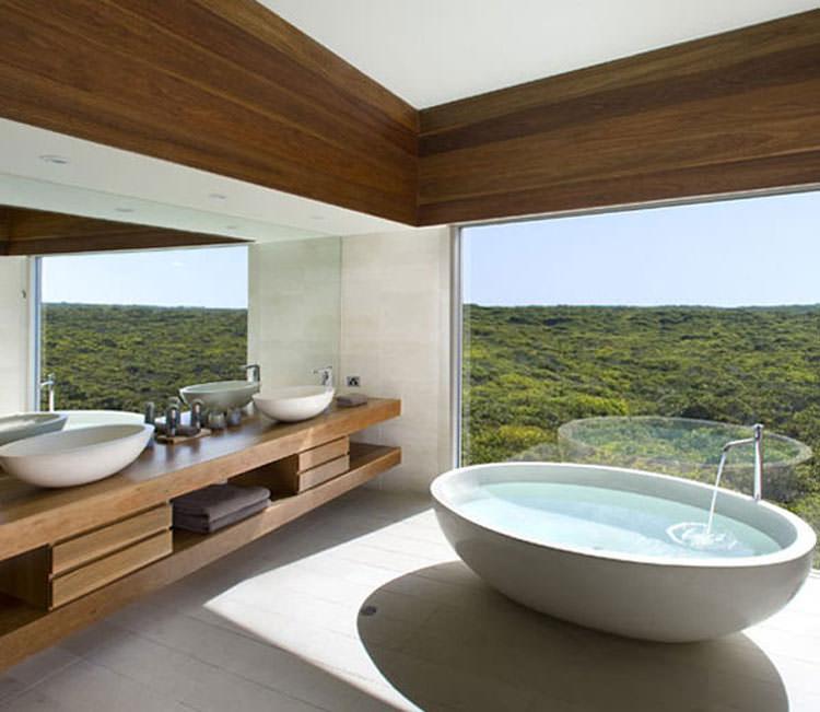 Bagno di lusso con vista panoramica n.44