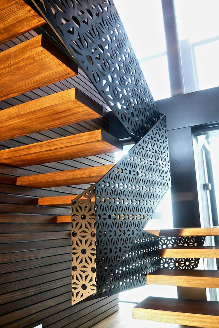 Corrimano e ringhiere per scale dal design moderno for Casa design moderno