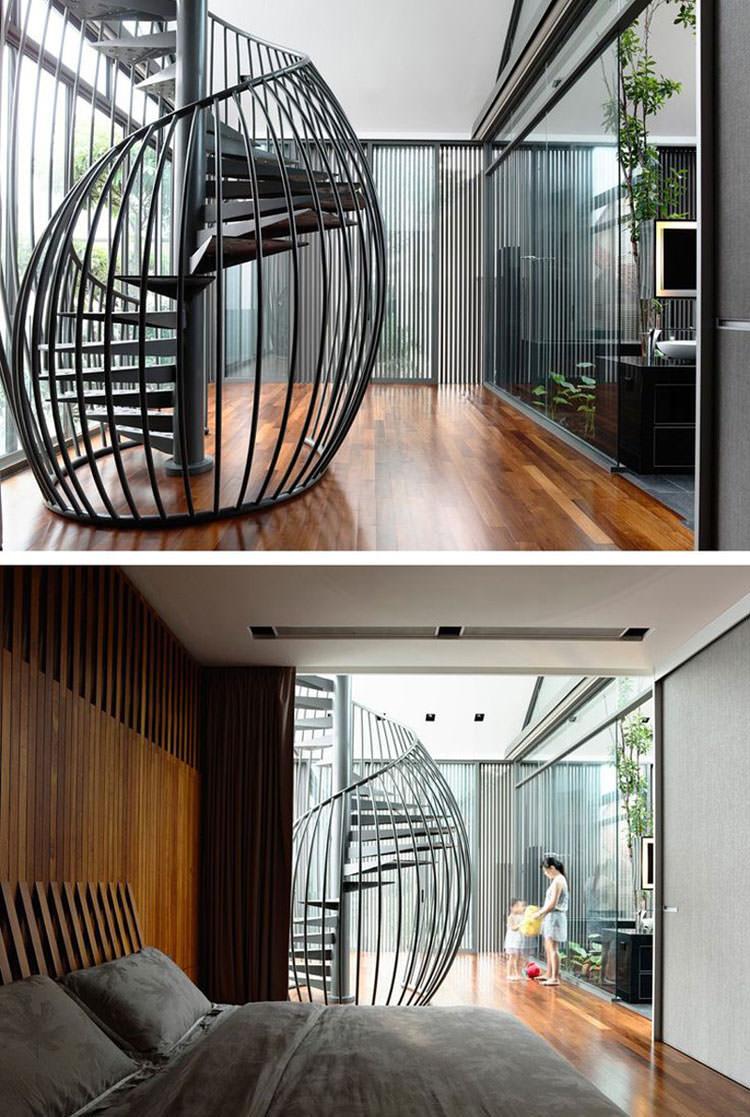 Corrimano e ringhiere per interni da design moderno n.05