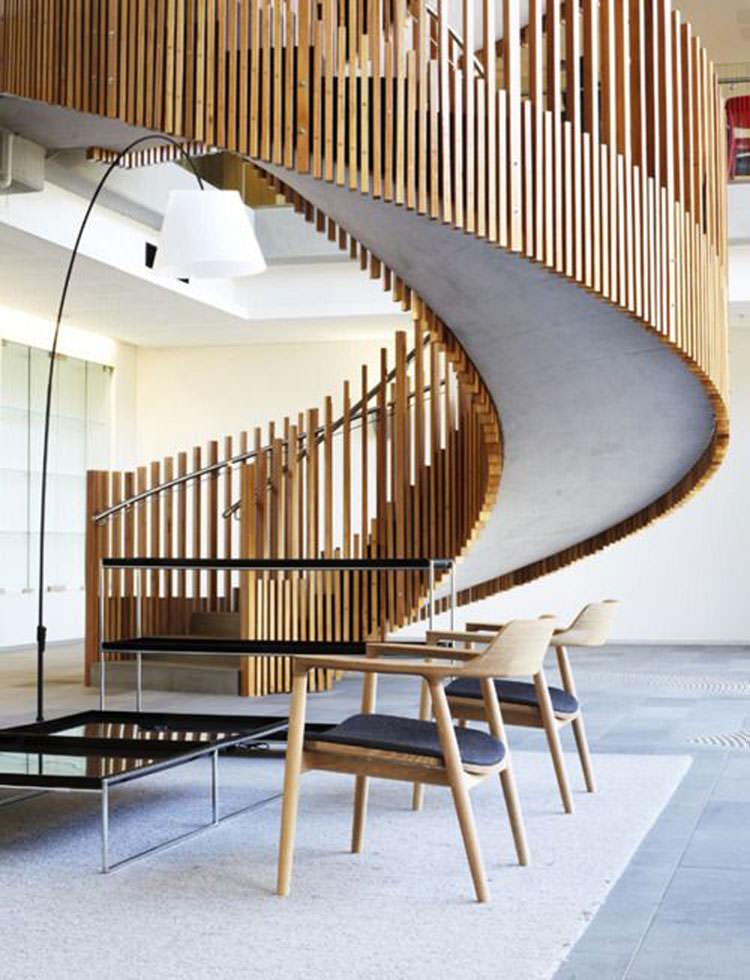 Corrimano e ringhiere per scale dal design moderno for Design moderno interni