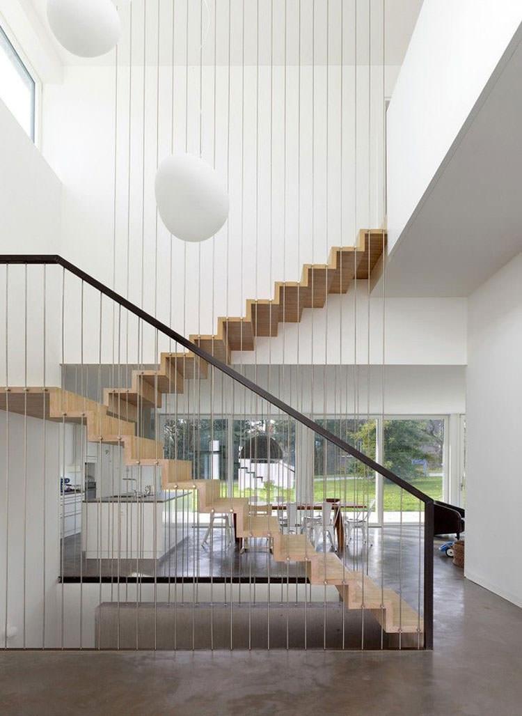 Corrimano e ringhiere per scale dal design moderno - Scale eleganti per interni ...