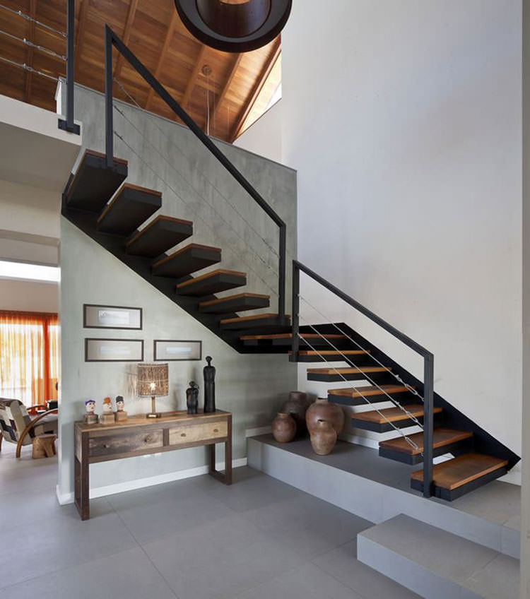 corrimano e ringhiere per scale dal design moderno. Black Bedroom Furniture Sets. Home Design Ideas