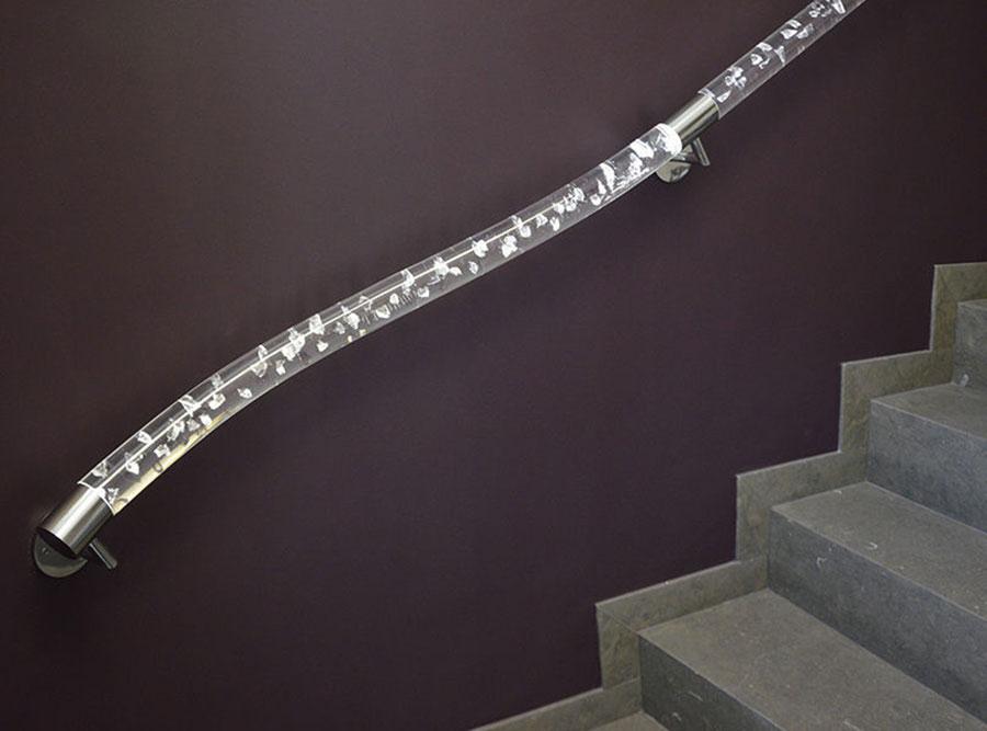 Modello di corrimano per scale interne n.01