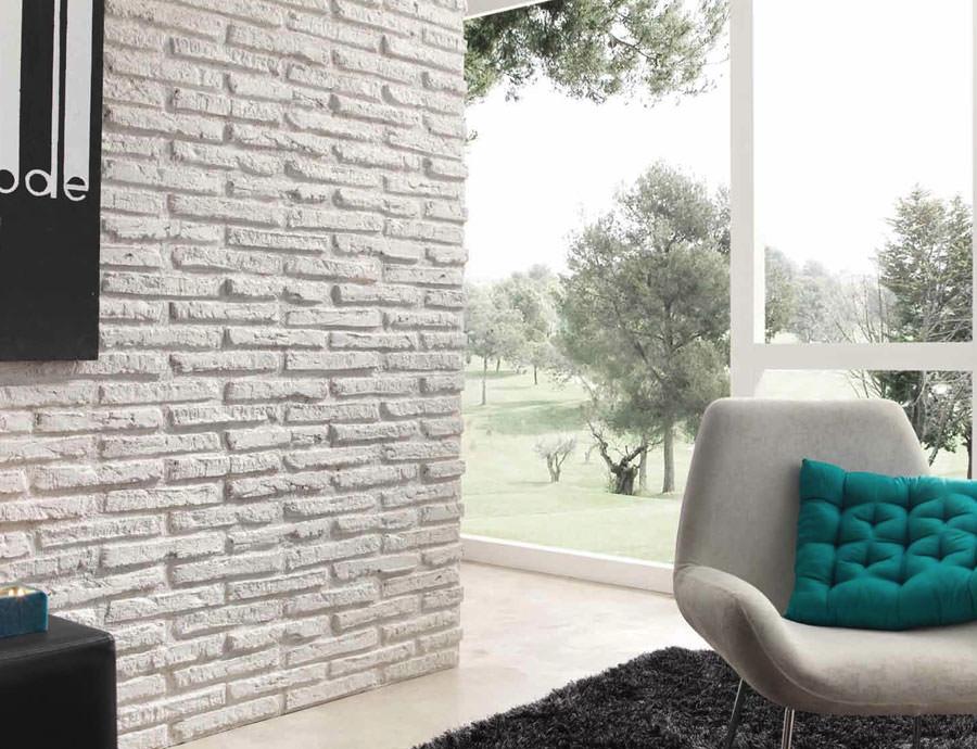 Pareti bianche con mattoni a vista 25 idee creative - Mattoncini per esterno ...