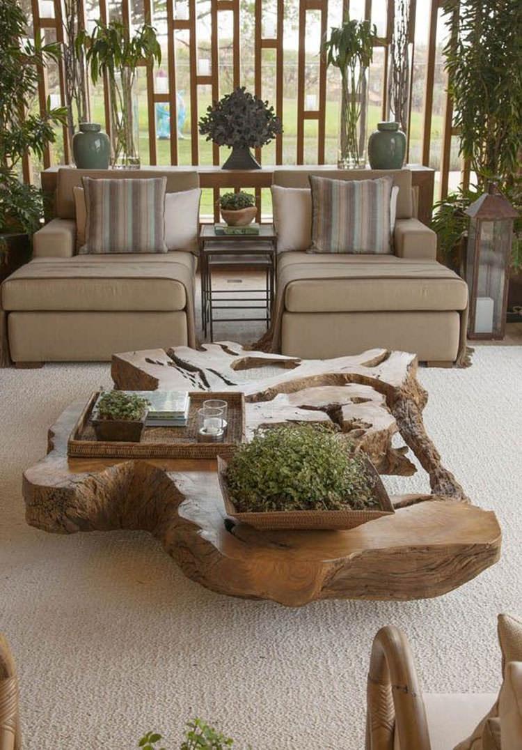 Tavolo in legno naturale dal design originale n.03