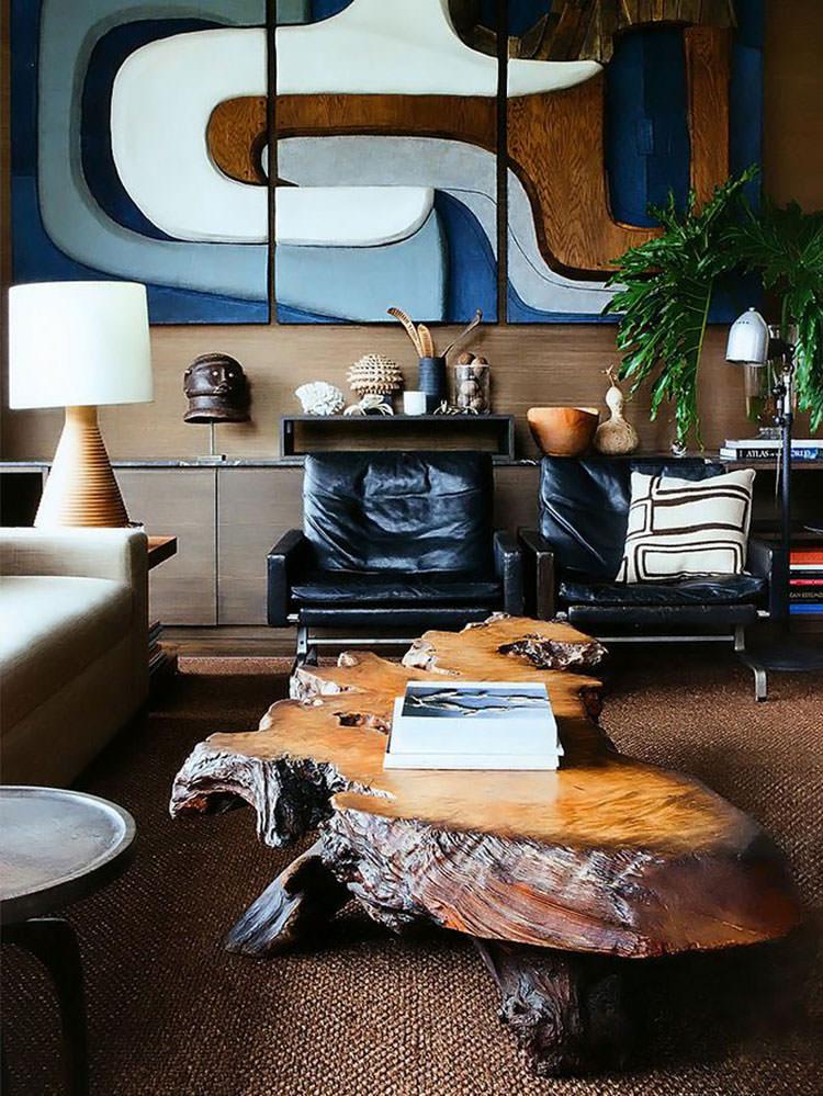 Tavolo in legno naturale dal design originale n.06