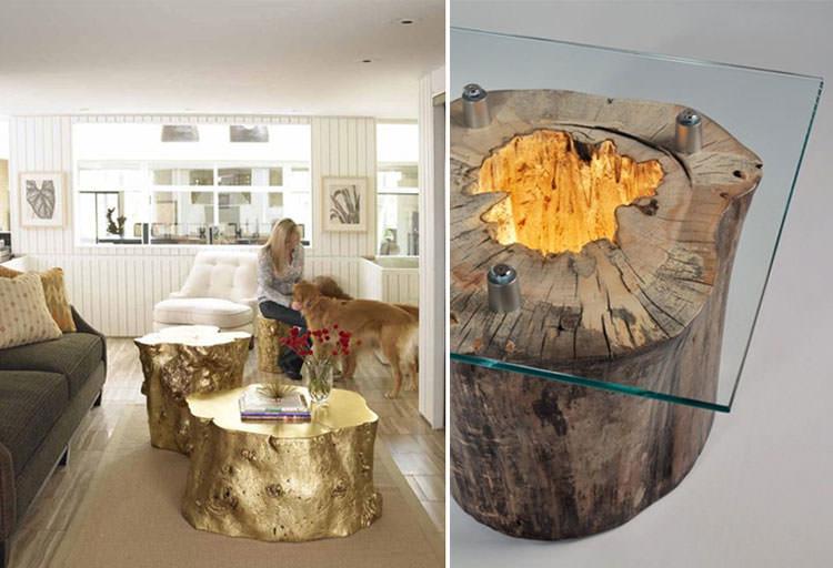 Tavolo in legno naturale dal design originale n.08